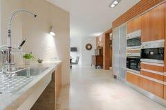 Minimalistic design contemporary kitchen Stock Photo