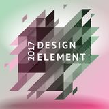 Minimalistic design, creative concept, modern diagonal abstract background Geometric element. Green, gray and pink diagonal lines  triangles. Vector-stock Royalty Free Stock Photos