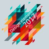 Minimalistic design, creative concept, modern diagonal abstract background Geometric element. Red, green and yellow diagonal lines triangles. Vector-stock stock illustration