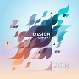 Minimalistic design, creative concept, modern diagonal abstract background Geometric element. Multi-colored geometric waves with transparency and gradients stock illustration