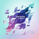 Minimalistic design, creative concept, modern diagonal abstract background Geometric element. Multi-colored geometric waves with transparency and gradients royalty free illustration