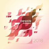 Minimalistic design, creative concept, modern diagonal abstract background Geometric element. Multi-colored geometric waves with transparency and gradients Royalty Free Stock Photography