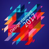 Minimalistic design, creative concept, modern diagonal abstract background Geometric element. Red, blue andyellow diagonal lines  triangles. Vector-stock Stock Images