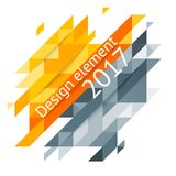 Minimalistic design, creative concept, modern diagonal abstract background Geometric element. Red, orange and yellow diagonal lines  triangles. Vector-stock Stock Photo