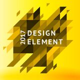 Minimalistic design, creative concept, modern diagonal abstract background Geometric element. Yellow diagonal lines  triangles. Vector-stock illustration In a Royalty Free Stock Image