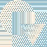 Minimalistic design för blå färg med geometriska former som bildar abstrakt härlig bakgrund Perfekt garnering för royaltyfri illustrationer