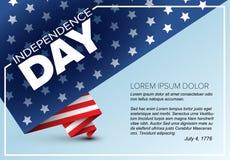 Minimalistic dnia niepodległości Wektorowy plakat Obraz Stock