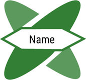 Minimalistic e logotipo geométrico Imagens de Stock