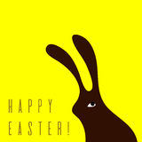 Minimalistic Easter card Royalty Free Stock Photos