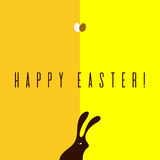 Minimalistic Easter card Royalty Free Stock Images