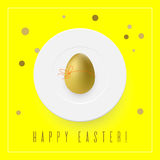 Minimalistic Easter card royalty free illustration