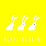 Minimalistic Easter card vector illustration