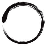 Minimalistic Enso Zen Circle Vector stock illustrationer