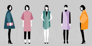 Minimalistic fashion Stock Photography