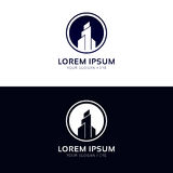 Minimalistic firmy budynku budowy loga wektorowa ikona Zdjęcia Stock