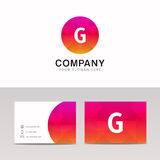 Minimalistic flat G letter in round shape logo company icon  Stock Photos
