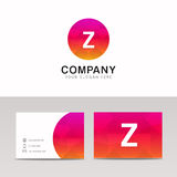 Minimalistic flat Z letter in round shape logo company icon  Stock Photo