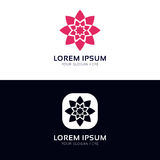 Minimalistic flower icon sign company logo vector design. Flower icon sign company logo vector design vector illustration