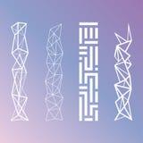 Minimalistic Geometric Patterns. Minimalistic Futuristic Geometric Patterns Vector Royalty Free Stock Photography