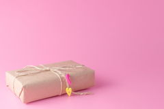 Minimalistic gift box Stock Photo