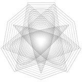 Minimalistic Grafikplakat der Geometrie mit einfacher Form und Zahl Stockfoto