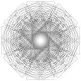 Minimalistic Grafikplakat der Geometrie mit einfacher Form und Zahl Lizenzfreies Stockbild