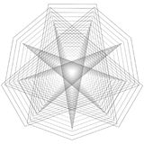 Minimalistic Grafikplakat der Geometrie mit einfacher Form und Zahl Lizenzfreies Stockfoto