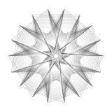 Minimalistic Grafikplakat der Geometrie mit einfacher Form und Zahl Stockbild