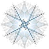 Minimalistic Grafikplakat der Geometrie mit einfacher Form und Zahl Lizenzfreie Stockfotografie