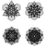 Minimalistic Grafikplakat der Geometrie mit einfacher Form und Zahl Lizenzfreie Stockfotos