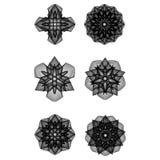 Minimalistic Grafikplakat der Geometrie mit einfacher Form und Zahl Stockbilder