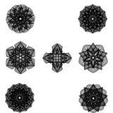 Minimalistic Grafikplakat der Geometrie mit einfacher Form und Zahl Stockfotografie