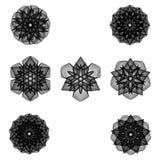 Minimalistic Grafikplakat der Geometrie mit einfacher Form und Zahl Lizenzfreie Stockbilder