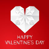 Minimalistic greeting card for Valentine`s Day. Royalty Free Stock Image