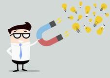 Businessman Magnet Ideas vector illustration