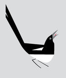 Minimalistic image of magpie Stock Images