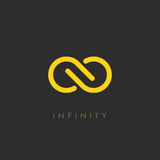 Minimalistic infinity vector logo. Illustration Stock Illustration
