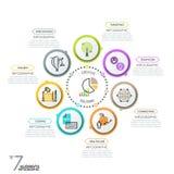 Minimalistic infographic designorientering stock illustrationer