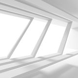 Minimalistic Interior Design. Empty Room with Window. 3d Rendering of Minimalistic Interior Design. Empty Room with Window. Abstract Architecture Background Royalty Free Stock Photos