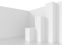 Minimalistic Interior Design. White Abstract Background. Creative Engineering Concept Royalty Free Stock Photo