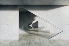 Minimalistic interior with tunnel stock illustration