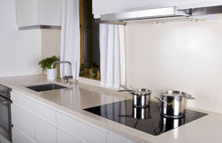 Minimalistic kitchen Royalty Free Stock Image