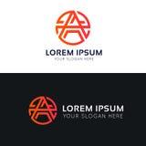Minimalistic A letter logo in circle icon sign vector design. A letter logo in circle icon sign vector design Stock Photo