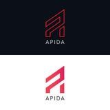 Minimalistic A letter logo sign company icon vector design. A letter logo sign company icon vector design Stock Photography