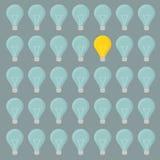 Minimalistic lightbulbs background Stock Image