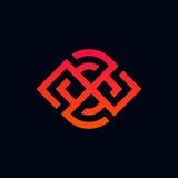Minimalistic line logo icon sign vector design. Line logo icon sign vector design Stock Images