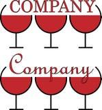 Minimalistic logo dla alkoholu biznesu trzy szkła projekta Zdjęcia Stock