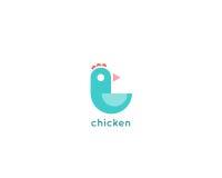 Minimalistic logodesign för fågel Arkivfoto