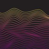 Minimalistic mallar för vektor med linjer Royaltyfri Fotografi