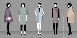 Minimalistic mode royaltyfri illustrationer